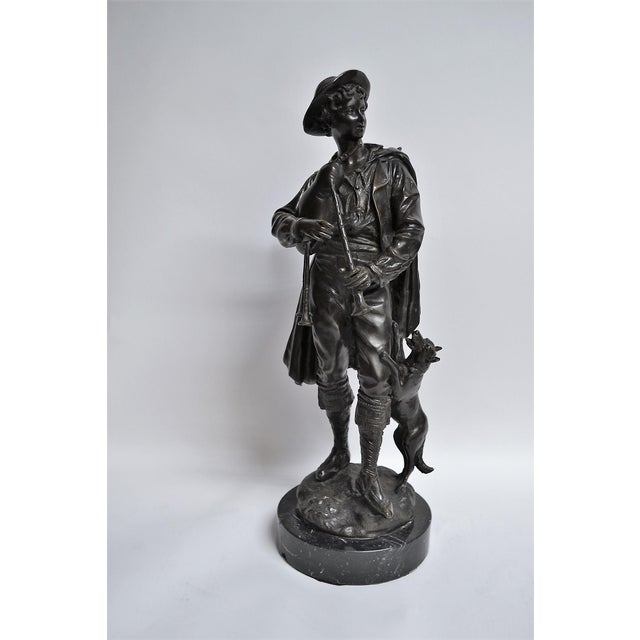 Late 19th Century Antique Bronze of Scottish Highlander With Bagpipes For Sale - Image 5 of 5