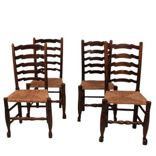 Lancashire Side Chairs, England Circa 1800 - Set of 4 For Sale