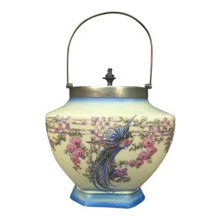 Antique Biscuit Jar For Sale