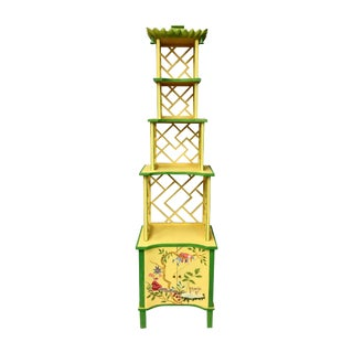 Chinese Style Painted Shelf For Sale