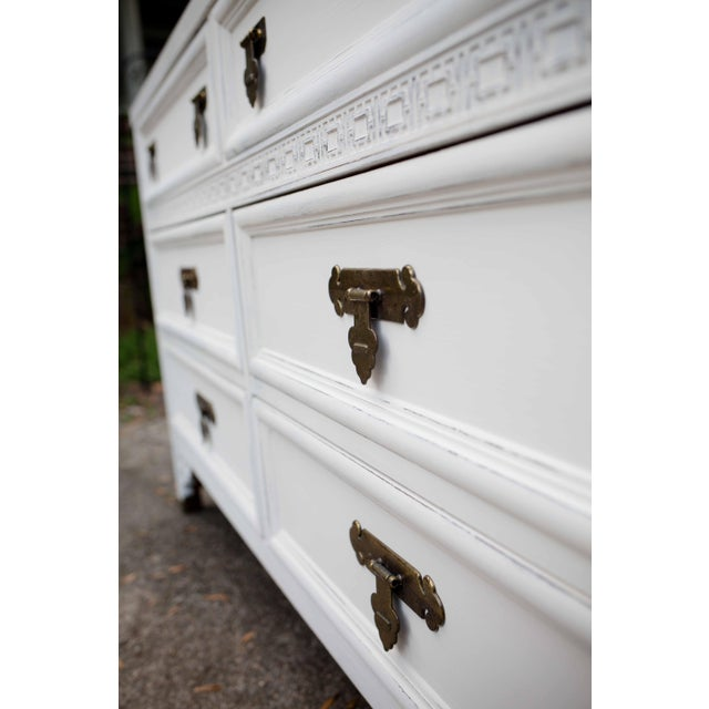 Dixie Antique White Shangri-La 6-Drawer Dresser For Sale - Image 6 of 10