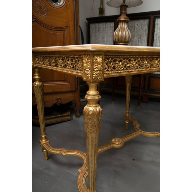 19th Century Louis XVI Style Giltwood Centre Table For Sale - Image 4 of 7