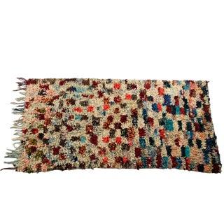 """Vintage Boucherouite Carpet - 8' X 4'2"""""""