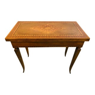 Italian Inlaid Folding Game or Card Table For Sale