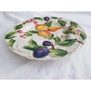 Italian Ceramic Embossed Apple Cherries and Plum Fruit Platter Preview