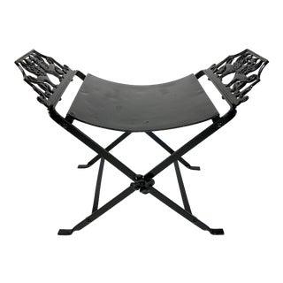 Black Metal Sphinx Vanity Bench For Sale