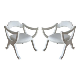 60s Mid-Century Modern Painted Drexel Armchairs- a Pair For Sale