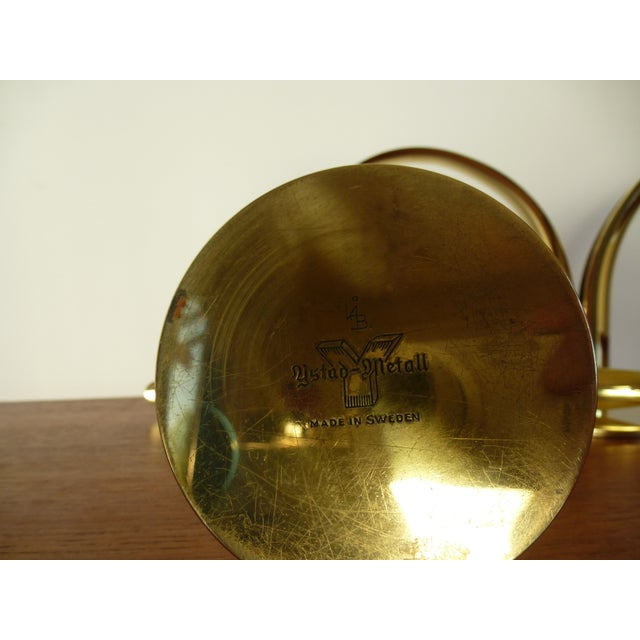 Ystad Metall Brass Lily Candle Holders/Vases - Image 8 of 8
