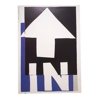 """Vintage Mid 20th C. Abstract Lithograph-Sister Mary Corita Kent-""""In the Beginning"""" For Sale"""