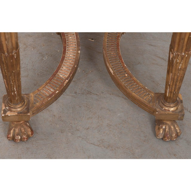 18th Century Period Louis XVI Gold Gilt Console For Sale In Baton Rouge - Image 6 of 13