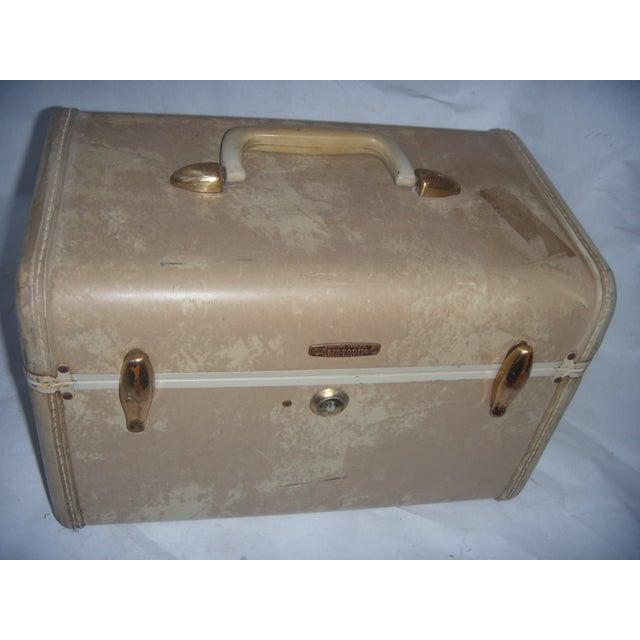 Mid-Century Samsonite Beige Vinyl Cosmetics Case - Image 3 of 7