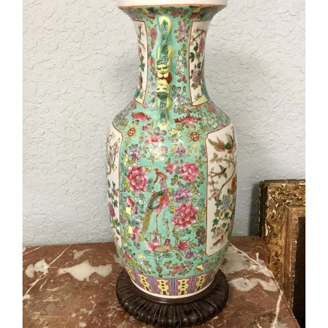 Blue 19th Century Chinese Export Vase For Sale - Image 8 of 10