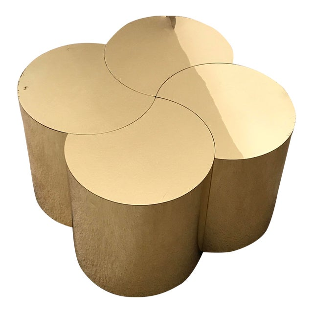 Curtis Jeré Mid-Century Modern Brass Clover Table For Sale