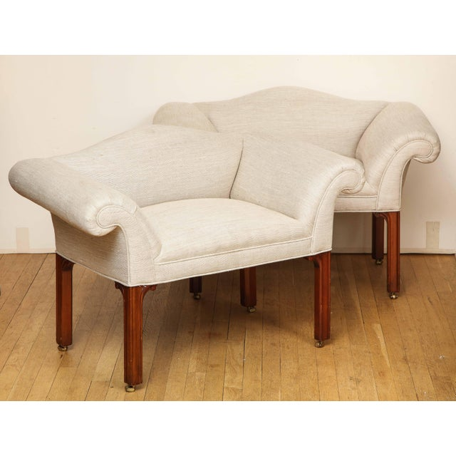 Mid-Century Modern Small Camelback Benches - a Pair For Sale - Image 3 of 13