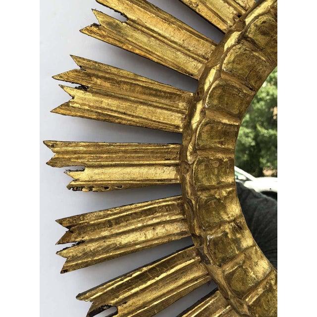 French Gilt Starburst or Sunburst Mirror (Diameter 21) For Sale - Image 4 of 9