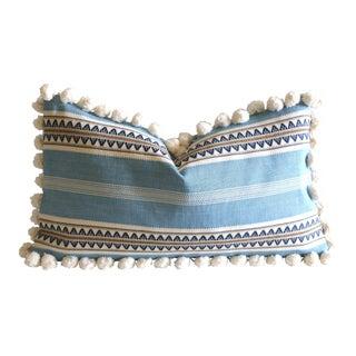 Serape Stripe Pom Pom Pillow
