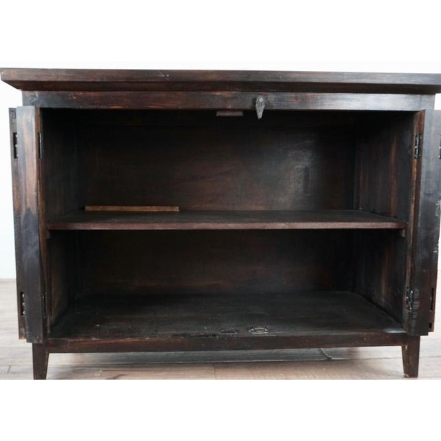 Shabby Chic Shabby Chic Wooden Storage Cabinet For Sale - Image 3 of 10