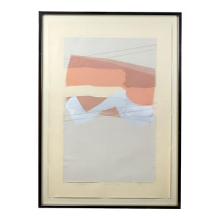 Harris Strong Mauve Landscape Collage Painting For Sale