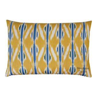 Vintage Silk Atla Silk Warp Lumbar Pillow For Sale