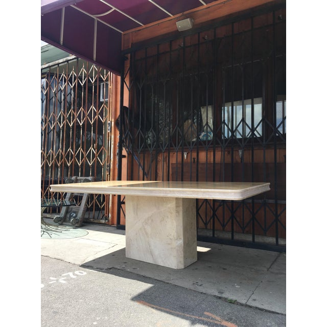 1960s Italian Travertine Dining Table For Sale In Los Angeles - Image 6 of 13
