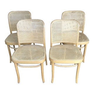 "Vintage Josef Hoffmann ""Prague"" Chairs- Set of 4 For Sale"