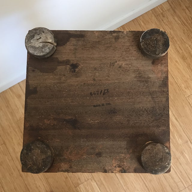 Vintage Italian Walnut Open Barley Twist Plant Stand For Sale - Image 12 of 13