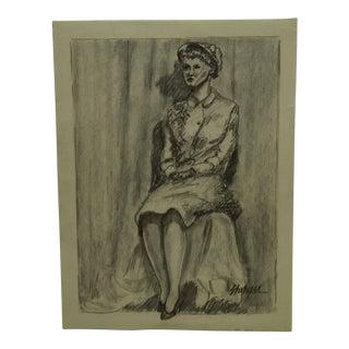"""Original Drawing Sketch """"Sandy"""" by Tom Sturges Jr., 1959"""