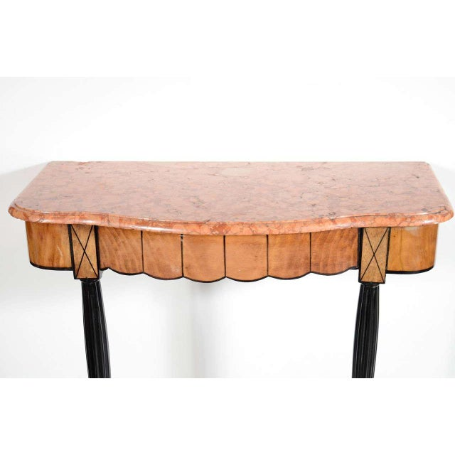 Art Deco Art Deco Exotic Marble Top Console Table For Sale - Image 3 of 9