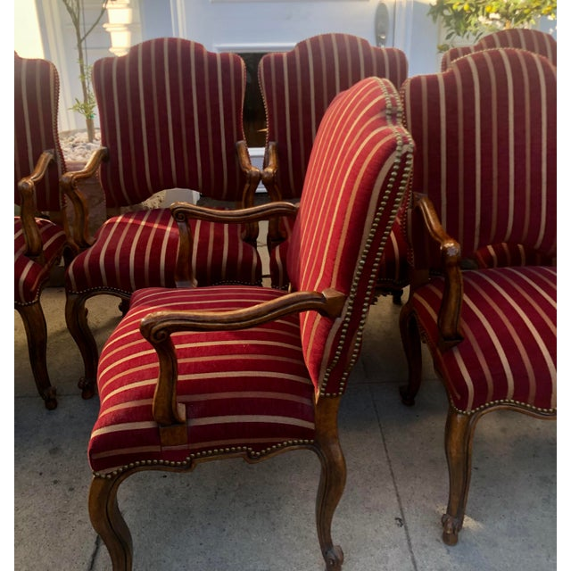 Wood Minton Slidell Regence French Regency Dining Chairs - Set of 6 For Sale - Image 7 of 9