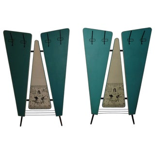 Verona Italian Mid-Century Wall Coat Racks - Pair For Sale