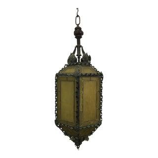 1920s American Copper & Bronze Lantern For Sale