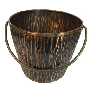 Mid Century Modern Wb Solid Copper Ice Bucket/Pail For Sale
