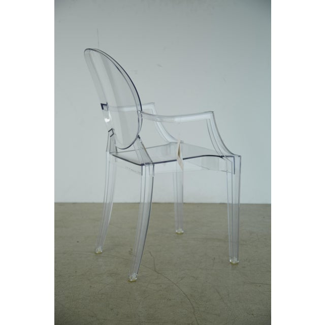 We have 12 of these acrylic (Lucite) Louis XVI Ghost Chairs by Philippe Starck for Kartell available unused, brand new, in...