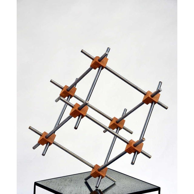 Contemporary Geometric Abstract Sculpture by Alex Andre For Sale - Image 3 of 7