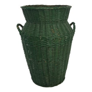 Large Urn Shaped Wicker Basket