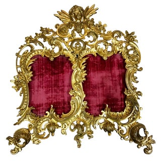 19th Century French Rococo Style Ormolu Bronze Picture Frame For Sale