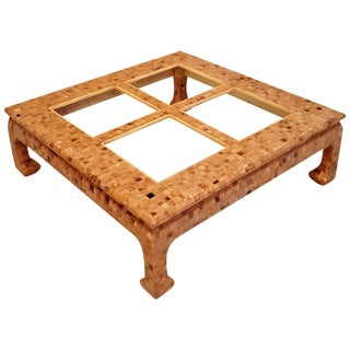 Mid-Century Horn Tessellated Coffee Table For Sale