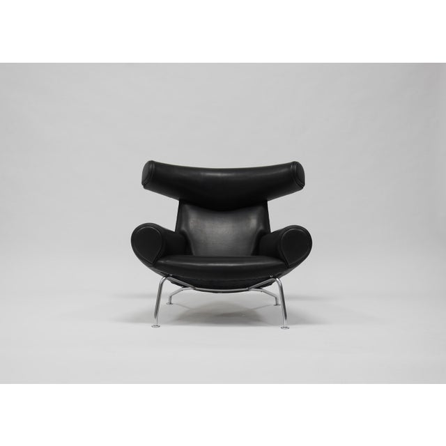 A.P. Stolen Early Ox Lounge Chair by Hans Wegner for a.p. Stolen For Sale - Image 4 of 11