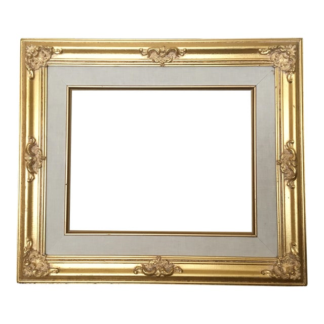 French Gold Baroque Frame For Sale