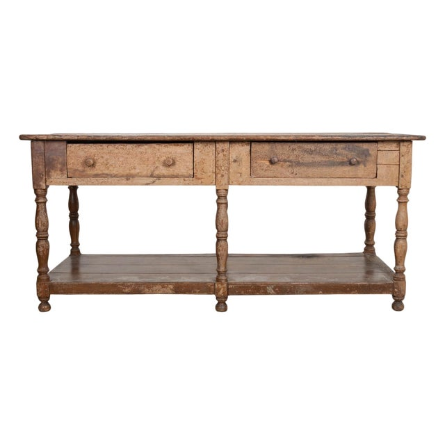 French 19th Century Painted Drapery Table For Sale