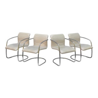 Mid-Century Cantilever Dining Chairs by Tulip Inc. For Sale