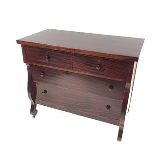 1800s Empire-Period Mahogany Dresser For Sale
