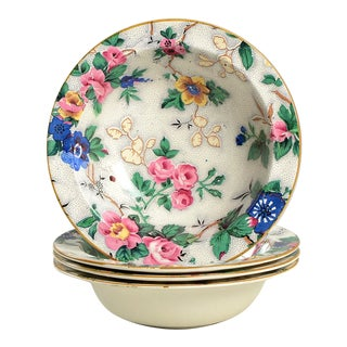Crown Ducal Ascot Rim Small Bowl - Set of 4 For Sale