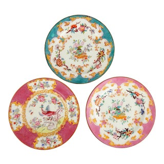 Antique Mintons Dinner Plates, S/3 For Sale