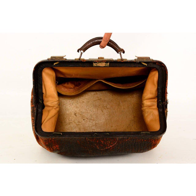 Leather Doctor's Bag For Sale - Image 9 of 10