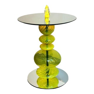 Abacus Tea Accent Table For Sale