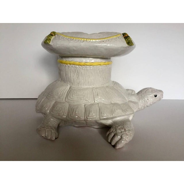 Italian Glazed Terracotta Turtle Table - Image 5 of 5
