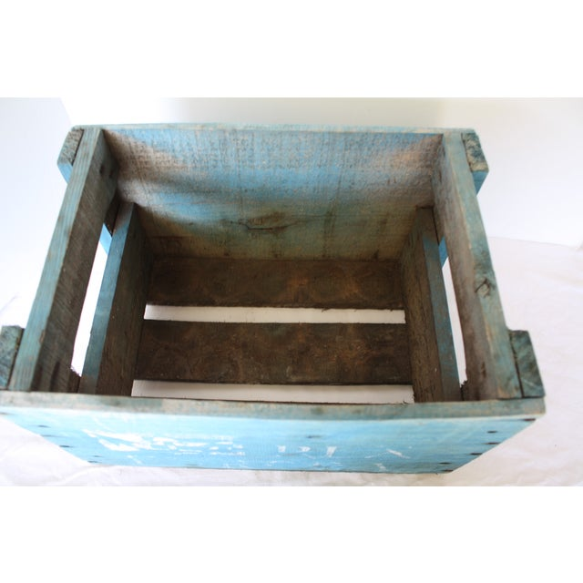Blue Distressed Europa Rex Bottle Crate - Image 5 of 5