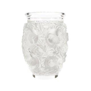 Lalique Paris -Vintage Art Glass Vase With Birds For Sale