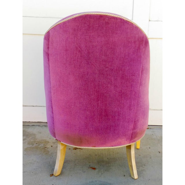 Vintage Lilac Slipper Chair - Image 4 of 8